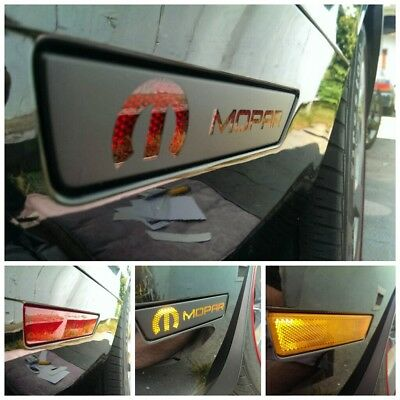 Challenger Front & Rear Side Marker vinyl overlays With MOPAR Cut Out