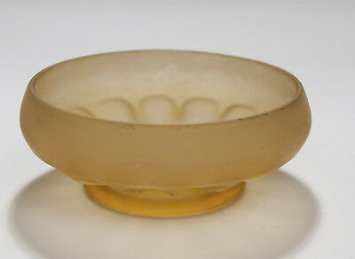 Bagley & Co Art Deco Period Small Pressed Glass Crystaltynt Amber Frosted Bowl