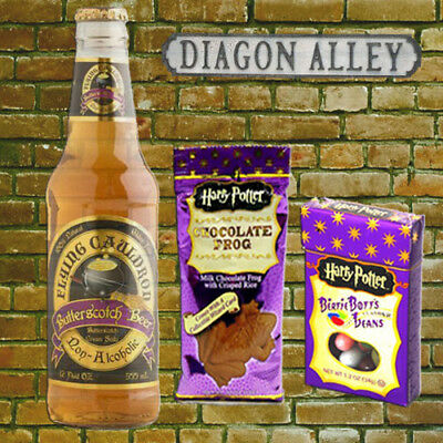Harry Potter Sweets Chocolate Frog Bertie Botts & Flying Cauldron Beer