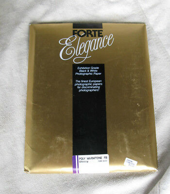 Forte Elegance POLY WARMTONE DW FB Fiber Paper GLOSSY 8x10 UNOPENED PACK