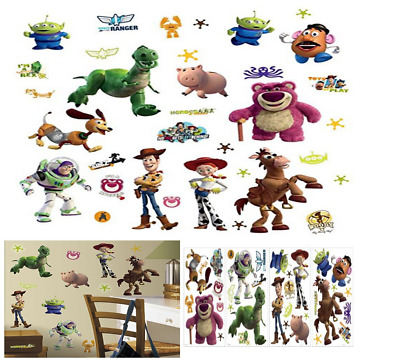 Made in USA Toy Story Peel Stick 33 Wall Decals Lotso Woody Jessie Bullseye