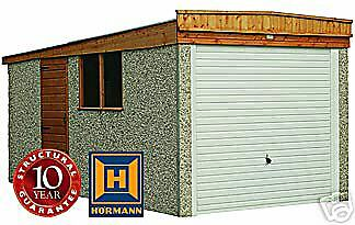"14Ft 3"" X 8Ft 6"" Concrete Sectional Garage/garages"