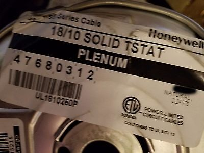 Honeywell Genesis 4768 18/10C Solid Plenum Thermostat Cable White /50ft