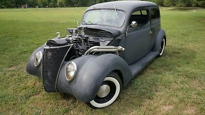 """1937 Ford 2 DOOR SEDAN 350 W/671 BLOWER 518HP 4 SPEED AUTOMATIC ART CARR 9"""" FORD SOLID BODY MAKE OFFER"""