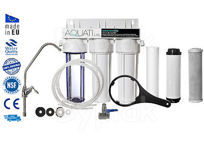 Premium 3 Stage Home Under Sink Water Purifier and Dechlorinator Filter Kit