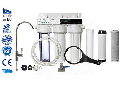 Luxury 3 Stage Home Under Sink Water Purifier and Dechlorinator Filter Kit