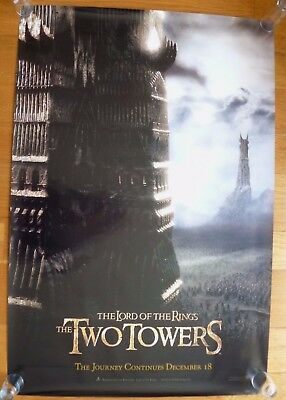 """Lord of the Rings The Two Towers 2002 Movie Poster 27"""" x 39 1/2"""". New Line"""