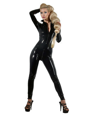 The Latex Collection • schwarzer Latex-Catsuit mit Reißverschluss • XS - XXL