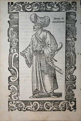 Noble man of North Africa - Maghreb - Vecellio 1598