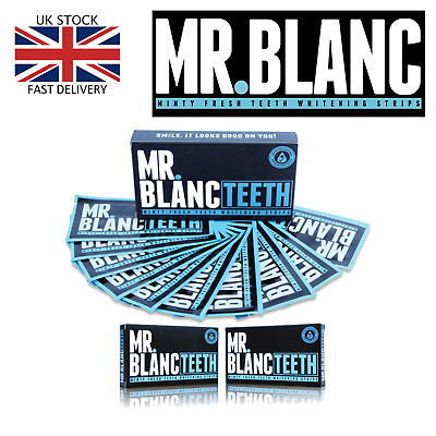 MR BLANC Teeth Whitening Strips Stain Remover 2 weeks supply 28 strips (BOXED)