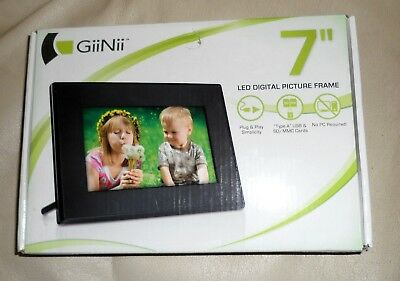 """Brand New GiiNii LED Digital Picture Frame, 7""""  - Never Used!"""