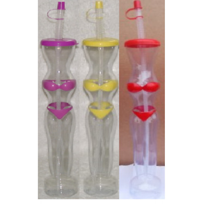 BIKINI Slush Yard Cups 15OZ x 48 cups with lid and straw MIXED,novelty CUPS