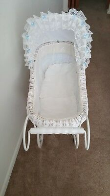 Vintage  Wicker Baby Carriage Stroller
