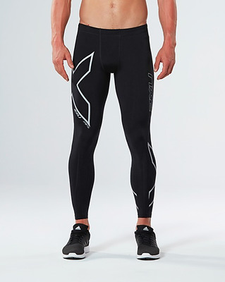 2XU - Men's Hyoptik Thermal Comp Tights (MA3514b-BLK/SRF) Size XL - 50% Off