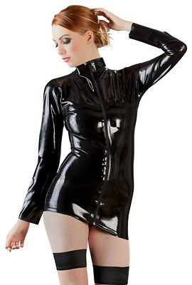 The Latex Collection • schwarzes Latex-Hemd mit langem Arm • S - XXL