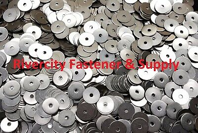 """(100) #10x1 Fender Washers Stainless Steel 10 x 1"""" Large OD Washer 3/16x1"""