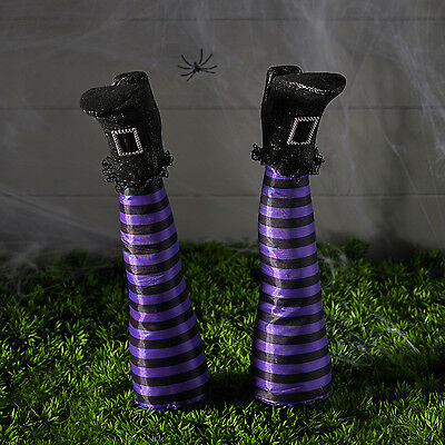 Pair of Witch's Legs Garden Stakes Halloween Party Prop Outdoor Decoration