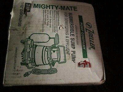 Zoeller Submersible Sump Pump - Mighty Mate - .3Hp New In Box