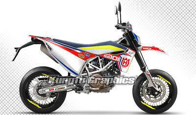 2016 2017 Husqvarna SM 701 Supermoto Enduro Custom Motorcycle Graphics Kit
