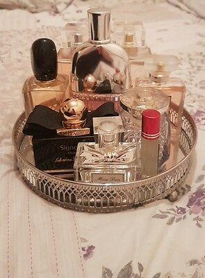 Silver mirrored perfume/vanity tray