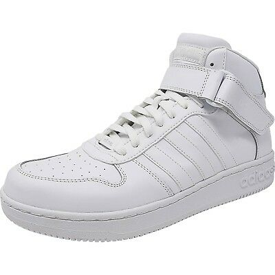 Adidas Men's Team Court Mid Ankle-High Leather Basketball Shoe