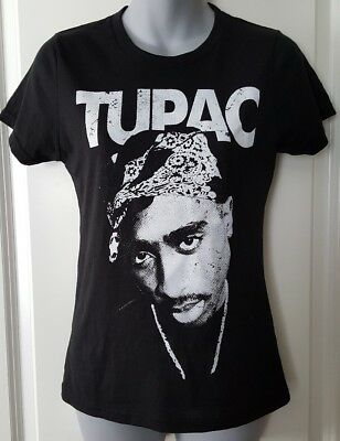 Tee Juniors Graphic Fitted T-Shirt Tupac Size M Medium L Large XL NWT