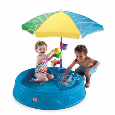 Step2 Round Kids Play Pool, Sandbox w/ Umbrella Shade