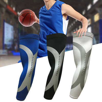 Sports Armlet Basketball Bike Compression Arm Long Sleeve Guard Protector 3 Colo