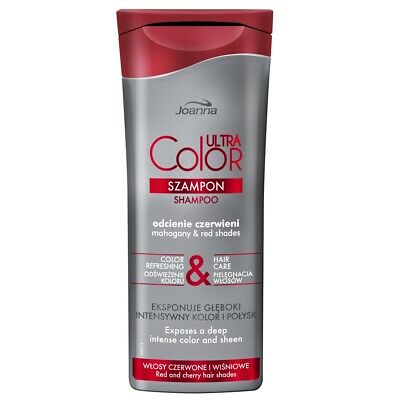 Joanna Ultra Color System Hair Shampoo Red Shade Red Chestnut and Ginger Hair