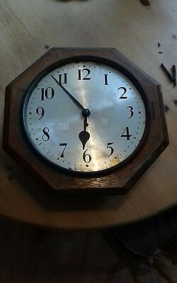 octagonal case fusee dial wall clock school clock for spares repair