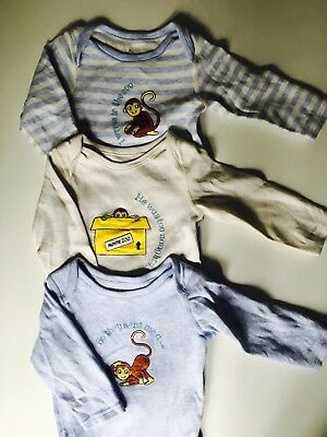 Marks And Spencer M&S Baby Boy Girl Long Sleeve Vests 6-9 VGC