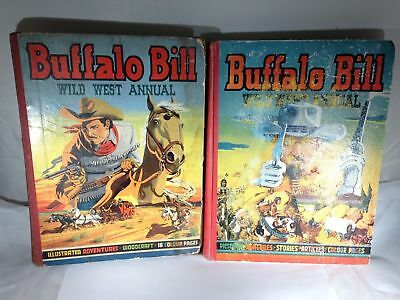 R579 - Set of 2 Buffalo Bill Wild West Annual - Western books from 1950 and 1951