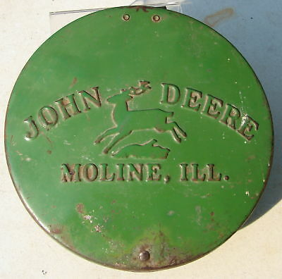 John Deere Seed Corn Planter Lid Cover Pressed Steel Vintage Parts Repair Used