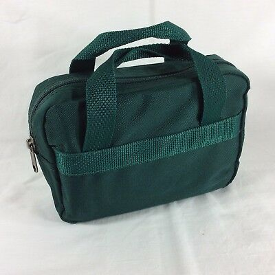 Green Fabric LDS Scripture Case Standard Size Mormon Quad Tote Carrying Bag
