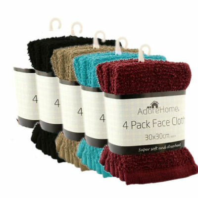 4 Pack Cotton face towels flannels cloth Brand new