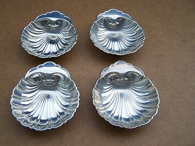 Set Of 4 Sterling Silver Shell Bowls By Birks 109.9 grams