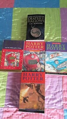 HARRY POTTER...Bulk lot of 5 SOFTCOVER BOOKS...J.K. Rowling...GOOD CONDITION.