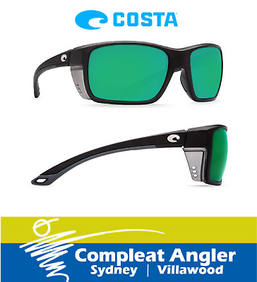 Costa Del Mar Rooster Matte Black 580G Green Mirror Sunglasses BRAND NEW At Comp
