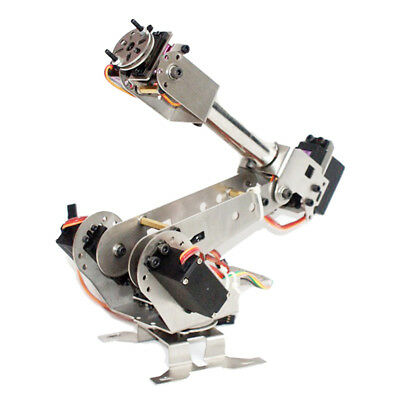 6 Axis Mechanical Robotic Arm Clamp with Servos DIY Kit for Arduino New