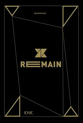 KNK [REMAIN] 2nd Mini Album CD+Photo Book+Photo Card+Standing Photo K-POP SEALED