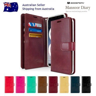 For iPhone X XS Goospery Wallet Leather Stand CARD Pocket Flip Slot Case Cover