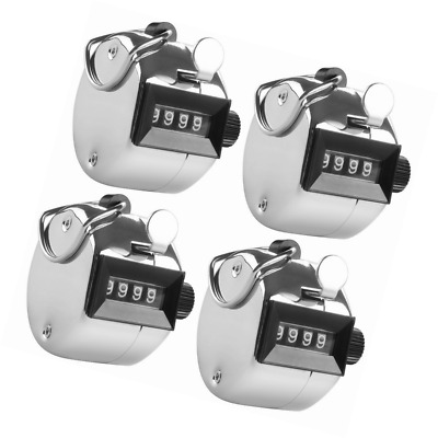 4 Digit Hand Tally Counters, AFUNTA 4 Pack Mechanical Lap Tracker Manual Clicker