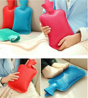 Large Rubber hot WATER BOTTLE Bag WARM Relaxing Heat / Cold Therapy 2017