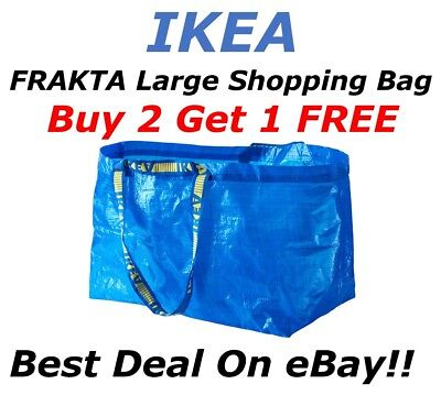 **BUY 2 GET 1 FREE** IKEA FRAKTA Large Bag Shopping Grocery Laundry Storage Tote