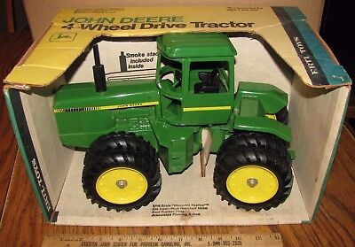 John Deere 8640 4 WD Tractor Duals 1/16 Ertl Toy 597 YELLOW BOX 1970s IRON HORSE