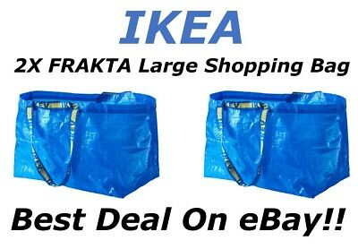 **SALE** 2pc IKEA FRAKTA Large Reusable Eco Shopping Laundry Tote Travel Bags