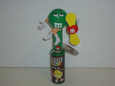 MM70 M&M'S Collectable Green Candy Fan RARE 2014
