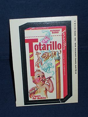 Wacky Pack Totarillo Cigars Sticker Series Fourteen 1975 White Back