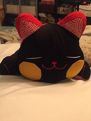 Chinese Cat Pillow- Black