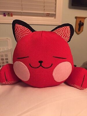 Chinese Cat Pillow- Red